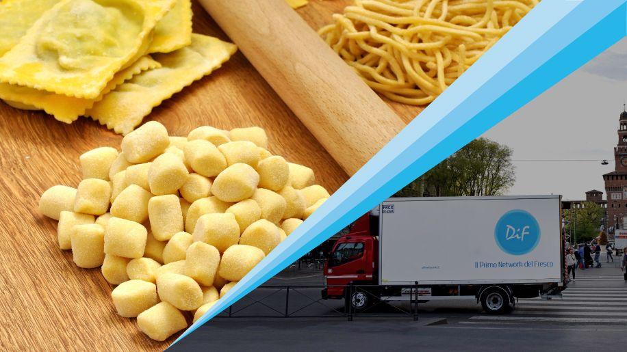 Dai tortellini ai cavatelli: il DIF Network trasporta pasta fresca confezionata